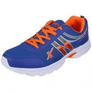 Sparx Men's SM0244 Series Royal Blue Orange Synthetic and Nylon Mesh Sports Shoes 8UK