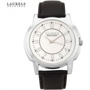 Laurels Exquisite Analog Silver Dial Mens Watch - Lo-Ex-103