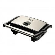 Тостер преса за сандвичи и скара 2в1 ZEPHYR ZP 1442 PB, 1500W, Незалепващи плочи, Терморегулатор, Черен/инокс