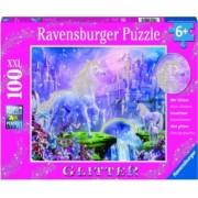 Puzzle unicorn cu sclipici Ravensburger 100 piese