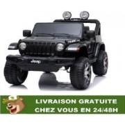 4x4 électrique Jeep Wrangler Rubicon-télécommande Bluetooth - noir