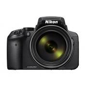 Nikon Coolpix P900 Digitale camera, 16 megapixels, 83-voudige optische megazoom, RGBW-display van 7,5 cm (3 inch) met 921.000 pixels, Full-HD-Video, wifi, gps, NFC, beeldstabilisatie, zwart