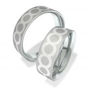 Luxusní Ocelové snubní prsteny 602004 (5)