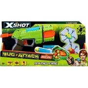 Pistol X-Shot Bugs Attack Blaster cu tragere rapida, 2 insecte si 8 sageti