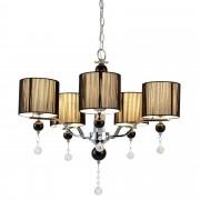 [lux.pro]® Elegantní lustr - Chromium Black – pětiramenné stropní svítidlo – 5 x E14 - chromový, černý