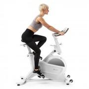Klarfit Aeris vélo d'exercice volant d'inertie 18 kg 8 niveaux de résistance magnétique jusqu'à 120 kg blanc