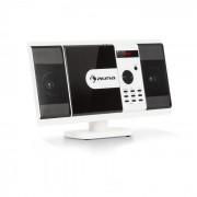 Auna MCD-82 BT Equipo de sonido vertical DVD/CD Bluetooth USB/SD FM HDMI Blanco