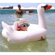 Uclever Baby Swimming Float Swim Ring Inflatable Pool Toys - White Swan