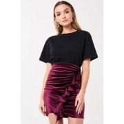 ''Gina Tricot'' ''Cilla velvet skirt''