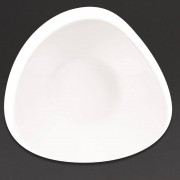 Churchill Super Vitrified Churchill Lotus Triangular Shallow Bowls White 238mm (Pack of 12)