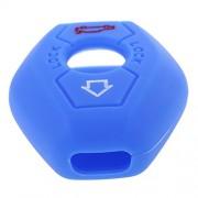 ELECTROPRIMEÃ'® Silicone Key Protective Case for BMW 3/5/6/7 Series X3/X5/Z3/Z4/Z8 Blue