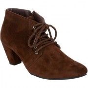 Exotique Women's Brown Casual Boot (EL0040BR)
