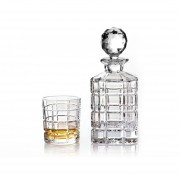 Комплект от 6 броя чаши за уиски и бутилка Bohemia Crystalite Diplomat