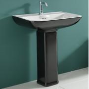 Dorian lavabo e colonna Black & White