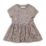 Rochie gri cu imprimeu copii fete