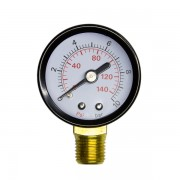 """Nyomásmérő óra - manométer - feszmérő 0-10 bar 1/4"""""""