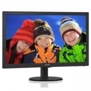 Монитор Philips 243V5LSB5, 23.6 инча, LED TN, 1920x1080, 5ms, 243V5LSB5/00