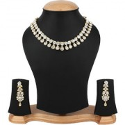 Penny Jewels Traditional Alloy Gold Plated Classic Funky Designer Necklace With Earrings Set For Women Girls