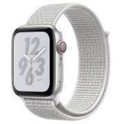 Apple Watch Nike+ Series 4 GPS + Cellular 40mm Alumínio Prateado com Bracelete Loop Nike Branca Polar