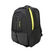 """Targus Racquets TSB943AU Carrying Case (Backpack) for 39.6 cm (15.6"""") Notebook - Black, Yellow"""