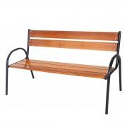 Gartenbank Tolve, Bank Parkbank Holzbank, massiv lackiert 3-Sitzer 160cm ~ Variantenangebot