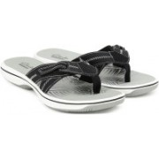 Clarks Brinkley Calm Black Combi Flip Flops