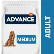 Promo 17+1 kg gratis Advance Medium Adult pollo y arroz pienso para perros