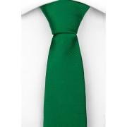 Notch Smal Slips i Siden - Enfärgad grön botten och en diskret randstruktur