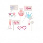 Ginger Ray Kit Photobooth Bride Tribe Rose x10