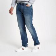 River Island Mens Dark Blue Dylan slim fit jeans - Size 26 32 (EU)