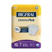 Fralda Geriátrica Bigfral Plus Adulto Tamanho Extra Grande Com 7 Unidades
