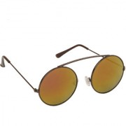 Arzonai Haskell MA-299-S6 Round Unisex Orange Sunglasses