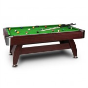 oneConcept Brighton Pool Table 7 Ft (122x82x214 cm) Accessories Set