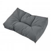 [en.casa] 1x cojín de respaldo para sofá- palé / para europalé [gris claro] cojín In/Outdoor - cojín acolchado - válido para exteriores