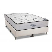 Conjunto Box-Colchão Ortobom Hight Foam+Cama Universal White - King 186