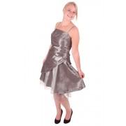 Korte jurk zilver / grijs met overslag-44