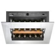 Vitrină de vin încorporabilă WKEgw 582, 46 L, 18 sticle, Alarmă defecţiune, Siguranţă copii, Display, Control electronic, Iluminare LED, Rafturi lemn, H 45.2 cm, Clasa A+