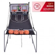 Indoor Basketball Arcade Game Double Electronic Hoops shot 2 Player W/ 4 Balls - By Choice Products
