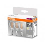 SET 3x Bec LED P40 E14/4W/230V 2700K - Osram