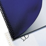 GBC Leather Look Premium Presentation Covers Binding Covers Non-Window Rounded Corners Navy 200 Pieces Per Box (2000711)