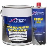 Vopsea pentru beton sau asfalt Kober 2.5 l Galben,