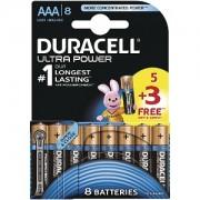 Blister de 5 piles Duracell Ultra Power AAA + 3 gratuites (MX2400B5+3)