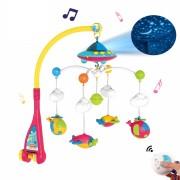 Muzička vrteška za krevetac Space Dream sa projektorom i daljinskim upravljanjem