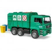 Bruder man tga camion trasporto rifiuti verde