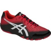 Asics GEL - BLADE 6 - CLASSIC RED/SILVER/CHERRY TOMATO Badminton Shoes For Men(Red, Black)