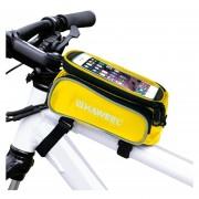 Haweel Bicicleta Bastidor Doble Pantalla Táctil Teléfono Bolsa Para IPhone 7 Plus / IPhone 7 / IPhone 6 Y 6 Plus / IPhone 6s Y 6s Plus (Amarillo)