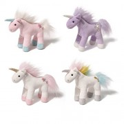 GUND 6 Inch Unicorn Chatters (Set of 4 Horses) With Magical Sparkling Sounds Plush Fantasy Mini Stuffed Animals (Set of 4 Unicorns)