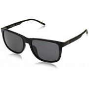 A X Armani Exchange A X Armani Exchange AX4070SF anteojos de sol para hombre, Negro/Gris polarizado., 58 mm