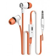 Langsdom JM21 In-Ear hörlurar , universal, trasselfri,Orange/Vit