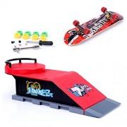 Mini Skate Park Ramp Parts for Tech Deck Fingerboard Finger Skateboard Ultimate Parks Ramp #D